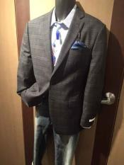 Collared Checked Sport Jacket