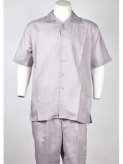 Silver Short Sleeve Man