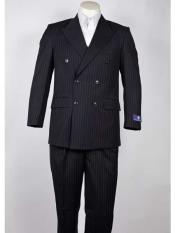 Breasted Navy Pinstripe 6