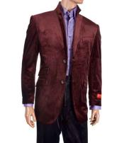 buttons Burgundy Single Breasted