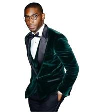 ID#DB17409 Tuxedo Dark Hunter Green Suede Best Cheap Blazer Suit Jacket For Affordable Cheap Priced Unique Fancy For Men Available Big Sizes on sale Men Affordable Suit
