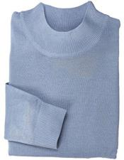 Blue Mock Neck Hem