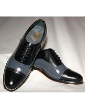 Toe Leather Sole Black~Grey
