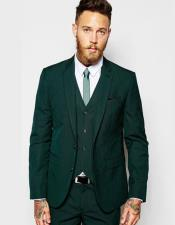 Button Green Suit