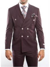 Lapel Brown Double Breasted