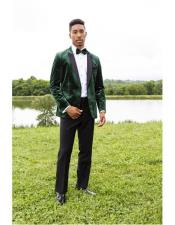 ID#SP25318 Green One Chest Pocket Tuxedo