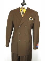 Closure Peak Lapel Brown