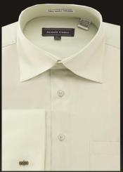 ID#SP25364 Sage Avanti Uomo Rounded Neck Type Collar French Cuff Shirt