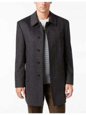 Button  Herringbone Wool