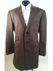 Button Herringbone Tweed Wool
