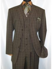 Suits Pleated Pants Brown