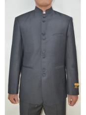 Mens Eight Button Mandarin