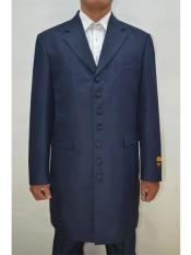 ID#SP25511 Mens Big and Tall Large Man ~ Plus Size Navy  Seven Button Zoot Suits