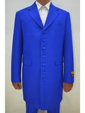 ID#SP25514 Mens Royal Big and Tall Large Man ~ Plus Size  Seven Button Zoot Suits