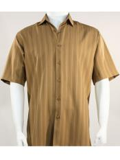 Stripe Light Brown Mens