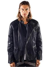 ID#SP25700 Mens Barabas Gunner Gold Leaf Regular Fit Black Jacket