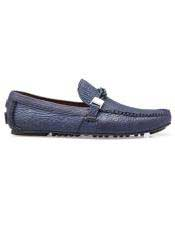 Toe Mens Blue Calf