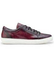 Ostrich Burgundy Lace Up