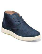 ID#SP25819 Mens Blue Authentic Belvedere Brand Lace Up Suede ~ Nubuck Shoe