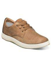 ID#SP25822 Mens Lace Up Tan ~ Cognac Shoe Suede ~ Nubuck