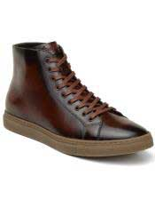 Brown Lace Up Cushioned