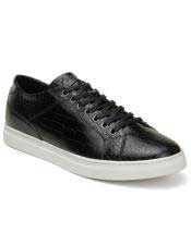 Black Insole Mens Lace