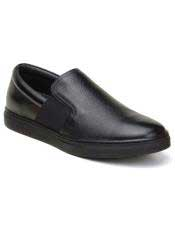 ID#SP25831 Mens Slip On Black Cap Toe Cheap Priced Exotic Skin Shoes Sneaker For Sale For Men