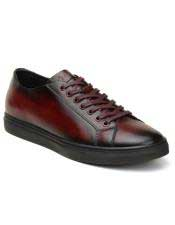 ID#SP25836 Mens Cushioned Insole Burgundy Lace Up Cheap Priced Exotic Skin Shoes For Sale For Men