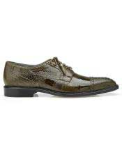 ID#SP25839 Mens Ostrich Green Lace Up Shoe
