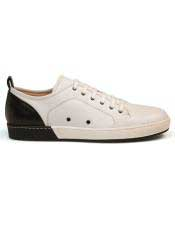 ID#SP25841 Mens Calf ~ Leather Black Lace Up Cheap Priced Exotic Skin Shoes For Sale For Men
