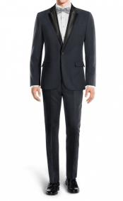 Jeremy Black Lapel Navy