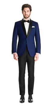 Royal Blue Tuxedo Wool