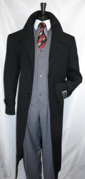 Diamond Duster Overcoat Jet