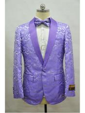 1 Button lavender paisley
