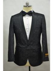 ID#SP25941 Flower Jacket Prom Custom Celebrity Modern Tux Black Cheap Affordable Cheap Priced Unique Fancy For Men Available Big Sizes on sale Mens Printed Unique Patterned Print Floral Tuxedo