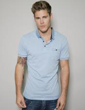 Blue Short Sleeved Athletic