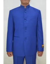 Wedding Indian Nehru Suit Jacket men's Blazer Royal ~ Blue Marriage Groom