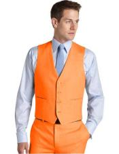 Waistcoat Set Orange Wedding