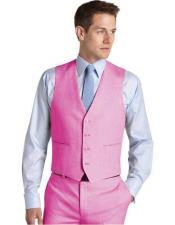 Set Pink Waistcoat Wedding