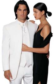 Collarless Wedding White Blazer