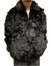 Regular Fit Rabbit Fur