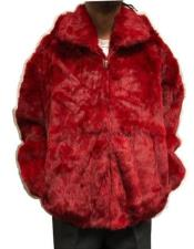 Rabbit Fur Hooded Jacket