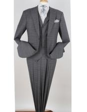 Wool Fashion Suit Pleated