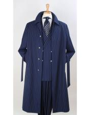Stripe Topcoat Overcoat ~