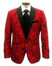 Notch Lapel Single Red