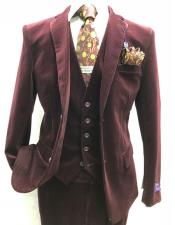 ~ Maroon Velvet Suit