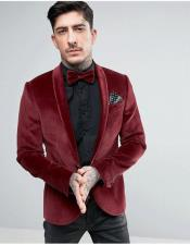 Burgundy Velvet 100% Cotton