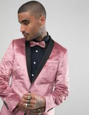 men's  Shawl Lapel One Button Pink Tuxedo