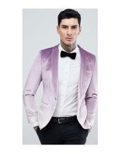 One Button Purple Tuxedo