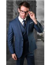 Two Button Blue Mens